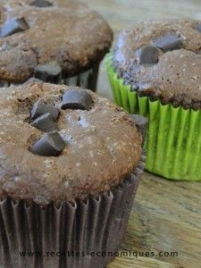 muffins au chocolat super recette au thermomix ou à la main