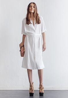 rodebjer shirt dress marta - white