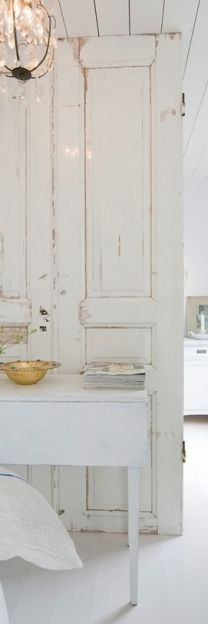 room dividers and furniture design ideas for recycling salvaged wood doors and windows doors Old Wood Windows, Windows And Doors, Swedish Decor, White Cottage, Old Doors, White Rooms, White Houses, White Decor, Modern Interior Design