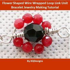 FREE!Flower Shaped Wire Wrapped Loop Link Unit Bracelet Jewelry Making Tutorial