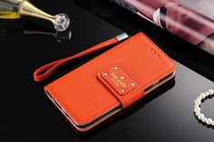 leather kate spade iphone 7 wallet case cover orange