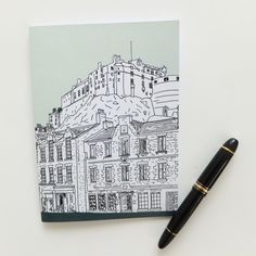 A wonderful Mint Green Edinburgh notebook with a great illustration of the Grassmarket and Edinburgh Castle. £8