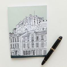 A wonderful Mint Green Edinburgh notebook with a great illustration of the Grassmarket and Edinburgh Castle. £8