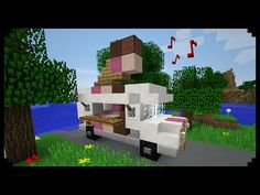 ✔ Minecraft: How to make an Ice Cream Truck - YouTube