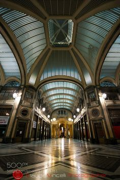 Torino galleria San Federico  - Pinned by Mak Khalaf City and Architecture SimmetryTorino by vincelliclaudio