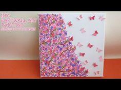 DIY: Easy Wall Art Painting (using cotton swabs) - YouTube