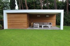 Modern Pool Designs and 3 Things Every Pool Owner Should Know – My Life Spot Modern Pool House, Modern Shed, Modern Pools, Outdoor Sheds, Outdoor Landscaping, Dublin House, Pool Shed, Gazebos, Shed Homes
