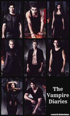 Damon, Stefan, Katherine, Caroline, Matt, Tyler, Bonnie, & Jeremy