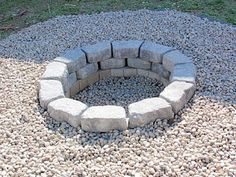 Weekend Project - Stone Fire Pit -small stones around? or inside at the very least.
