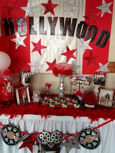 """Photo 8 of Hollywood / Graduation/End of School """"High School Graduation"""" Movie Star Party, Movie Night Party, Hollywood Sweet 16, Hollywood Theme, High School Musical, Red Carpet Theme Party, Deco Cinema, Hollywood Birthday Parties, Dance Themes"""