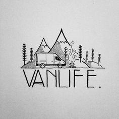 Gonna make some stickers for all the sprinter van dwellers out there!! #drawing #doodle #sticker #art #penandink #micron #decal #design #graphicdesign #typface #typography #illustration #illustree #camping #campvibes #sprintervan #vanlife #vanlifediaries #sprintervanlife #mountains #portland #oregon #pnw #upperleftusa #dirtbag #homeiswhereyouparkit #sketchbook #linework by david_rollyn