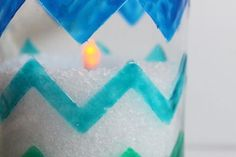 chevron beach themed candles, crafts