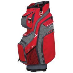 Callaway ORG 14 Cart Bag, Red/Charcoal Titanium White, Bags 2018, Callaway Golf, Royal Red, Golf Bags, Charcoal, Organization, Club, Bobs