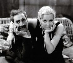 Groucho Marx and Thelma Todd in 'Monkey Business'