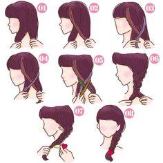 簡単可愛い女の子のヘアスタイル【子供】 - SHILASON Hair Styles, Anime, Beauty, Kawaii Hairstyles, Hair Plait Styles, Hair Makeup, Hairdos, Cartoon Movies, Haircut Styles