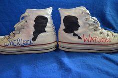 Sherlock/Johnlock High Top Converse Shoes