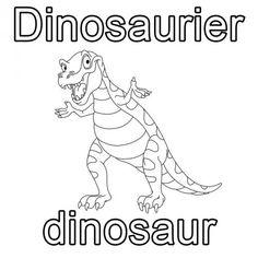 Englisch Lernen Ausmalbild Dinosaurier