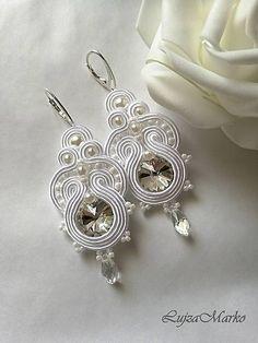 Swarovski Jewelry, Shibori, Handmade Jewelry, Bride, Floral, Earrings, Silver, Wedding, Outfits