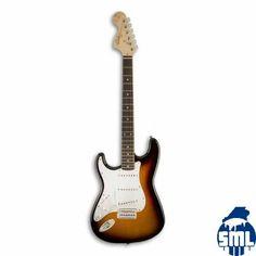 Guitarra Elétrica Fender Squier Bullet Stratocaster RW LH BSB para Esquerdino Brown Sunburst
