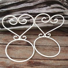 Iron Plant Stands  Iron Plant Hangers White Metal by WhimzyThyme, $34.00
