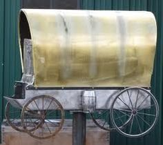 Covered wagon mailbox