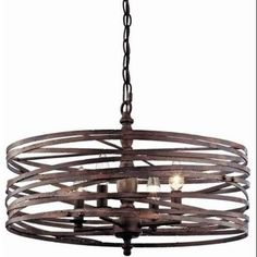 Miseno  MLIT143977RT  Chandeliers  Pasco  Indoor Lighting  Cage  ;Weathered Iron