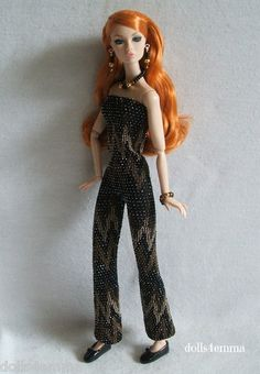 * ELECTRIC! * - Sexy jumpsuit and jewelry set for Poppy Parker dolls: $15.00 on eBay - DOLLS4EMMA