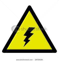 high voltage, icon, signage