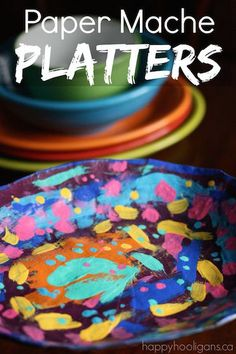 Gorgeous Paper Mache Platter for Kids to Make and Give