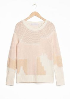 & Other Stories   Urban Landscape Jacquard Sweater