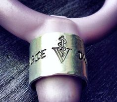 Stethoscope ID Ring Hammered Nurse rn by GypsySoulProductions