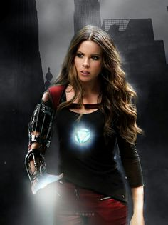 Tony Stark / Iron Man genderbent with Kate Beckinsale