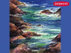 Rocks and Sea by Vivien BlackburnCreated using: Artbar