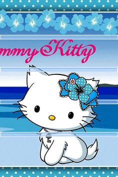 """She got her name from the word """"Charm"""" as she wears the key to Kitty's jewelry box around her neck. The key was given to her because shiny, sparkly things are said to make her happy . Sanrio Characters, Cute Characters, Hello Kitty Pictures, Mermaid Melody, Gekkan Shoujo, Drawing Letters, Hello Kitty Wallpaper, Kawaii, Cute Cartoon"""
