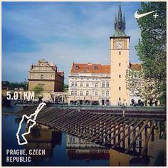 #nikeplus #myrun #run #running #morningrun #laripagi #latepost #prague #praha #czech #czechrepublic #iloveprague #april2014 #river #building #oldbuilding #oldtown #morning #tower #marilari #runtagit