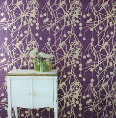 purple wallpaper ferm living denmark