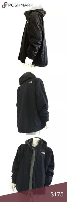 "North Face Black 3 in 1 Zip Expedition Parka XXL The North Face TNF Black 3-in-1 Men's Coat Expedition Jacket Size XXL All Season  Type: Men's Outerwear Style: Parkas Brand: The North Face; TNF Material: Synthetic Color: Black Measurements:  32"" L x  25"" W x  25"" Sleeve Length Condition: Used - excellent condition! Country of Manufacture: Bangladesh Stock Number: Not Applicable North Face Jackets & Coats Puffers"
