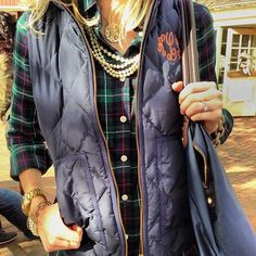 plaid flannel + vest= perfect... but + monogram= ABSOLUTE PERFECTION