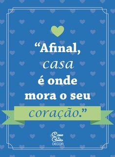 Tem um cantinho sem graça em casa? Então, faça download GRAÇA do Pôster 'Moradia do Coração' e coloque num lugar de destaque na sua parede.