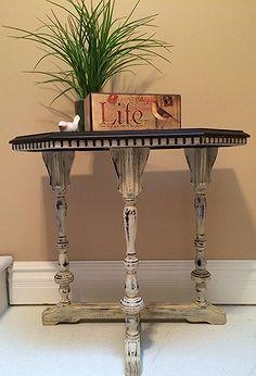 gasto mesa lateral chique refazer a pintura, decoração para casa, móveis pintados, redirecionando upcycling