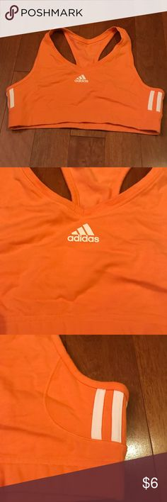 Adidas Sports Bra Excellent condition. No rips, fading, fraying, nothing.  Only worn a couple times, if at all.  Bought for a New Year's resolution that went downhill within the first week.   *** Bundle with something to pick from any of my Free With Purchase of $20 or more items ***  Please ask if any questions. adidas Intimates & Sleepwear Bras