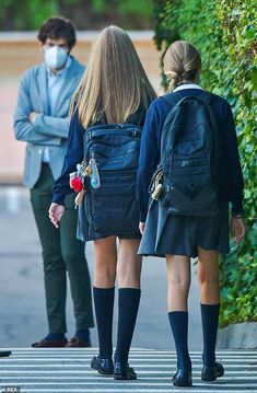 Private School Girl, Spanish Royalty, Spanish Royal Family, Queen Letizia, Prince And Princess, Kawaii Girl, Madrid, Leather Skirt, Mail Online
