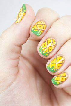 Pineapple Party Nail Art