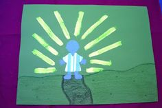 Use glow in the dark paint to depict the light from heaven. Saul on the road to Damascus