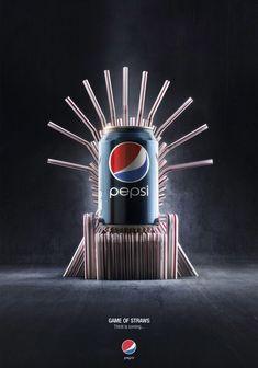 Publicidad creativa - Pepsi siempre se cuelga de la fama o popularidad de las demás cosas