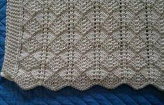 Knitting Stiches, Crochet Stitches Patterns, Knitting Charts, Knitting Patterns Free, Baby Knitting, Stitch Patterns, Knitted Afghans, Knitted Baby Blankets, Baby Blanket Crochet