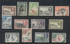 Nyasaland 1945 KGVI Pictorials Assorted to 10/- MLH/FU