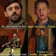 """""""Yeah, I found out... Friend"""" - David and Arthur #OnceUponATime"""