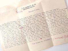 Vintage 1960's Letter Ephemera - Indiana Doctor