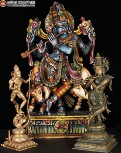 Statues of Lord Krishna.  Pin it to your board!